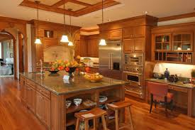 kitchen room quartz countertops oak cabinets kitchen glass