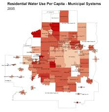 Map Of Minnesota Cities Map Of The Day Residential Water Use Per Capita 2005 Streets Mn