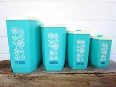 vintage canisters for kitchen vintage turquoise blue lustro ware canister set bread box