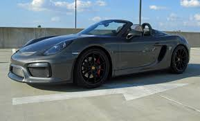 porsche boxster 2016 price 2016 porsche boxster spyder agate gray lwb red stitching and