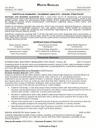 Manager Resume Sample by Resume Sample 18 Portfolio Manager Resume Career Resumes