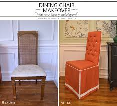 Fully Upholstered Dining Room Chairs Dining Chair Makeover U2013 From Cane Back To Fully Upholstered With