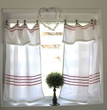 Shabby Chic Window Treatment Ideas by Easly Kitchen Curtains Idea For Diy Whitewashed Cottage Chippy