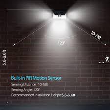 wireless sensor lights outdoor litom 24 led solar light wide angle security motion sensor light