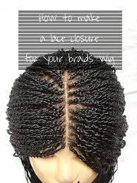 kanekalon hair wikipedia diy how to make a lace closure for your braids wig threading