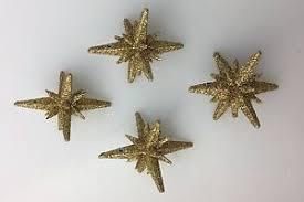 gold glitter 60s sputnik ornaments for aluminum tree ebay