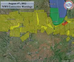 Weather Map Chicago by Recap Of August 4 2012 Severe Thunderstorms And Rainfall
