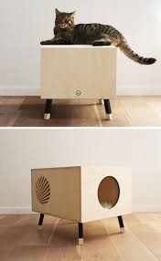 minimalist side table this minimalist modern cat bed doubles as a functional side table