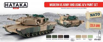 modern us army and usmc afv paint set hataka