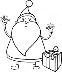 santa claus cartoon coloring page u2014 stock vector izakowski 32005527