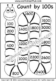 Count By 5 Worksheets Printable Free Skip Counting By 100 Count By 100s Four Worksheets Printable