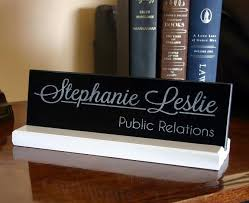 etched glass desk name plates personalized office desk sign and name plate by customsignworks
