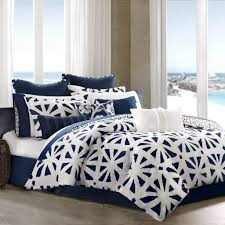 Blue Black And White Bedroom Black White And Blue Geometric Bedding With Solid Navy European