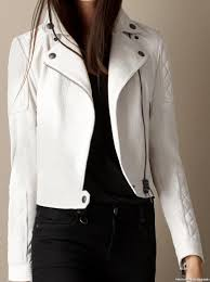 real leather motorcycle jackets arrow white leather quilted biker jacket 897