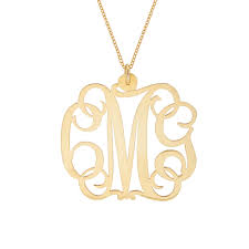 script monogram necklace script gold vermeil monogram necklace s addiction