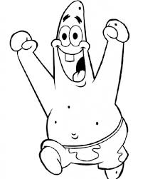patrick star big laugh coloring page free printable coloring