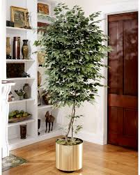 8 trim artificial silk ficus tree at petals