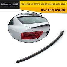 audi a5 roof carbon fiber rear roof spoiler wing top lip fit for audi a5 coupe