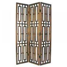 decorating ideas artistic black three door panel room divider