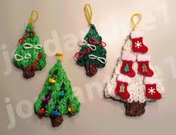 how to make a rainbow loom decorated holiday christmas tree charm