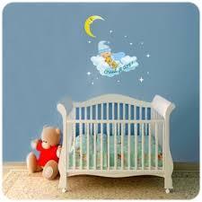 stickers chambre b b personnalis sticker bébé endormi avec lune étoiles et nuage