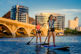 tempe spirit halloween store paddle boarding tempe town lake photo by foskett creative sup