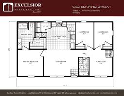 schult manufactured homes floor plans schult gm special 4828 65 1 excelsior homes west inc