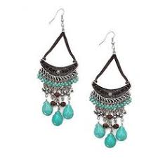 Turquoise Chandelier Earrings Polyvore One Kings Lane