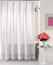 Sheer Ruffled Curtains Creative Bath Accessories Sheer Ruffles Shower Curtain Shower