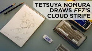 tetsuya nomura draws cloud strife from final fantasy vii youtube