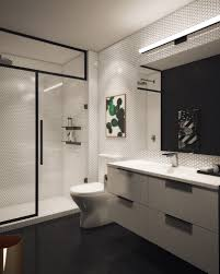 black and white bathroom design geometric bathroom design in black and white