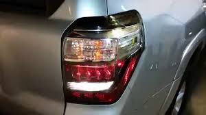 4th gen 4runner led tail lights 2010 2016 toyota 4runner suv testing tail lights after changing