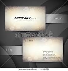 Design Visiting Card Professional Designer Business Card Set Visiting Stock Vector