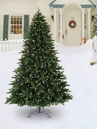 allegheny evergreen outdoor artificial christmas tree balsam hill