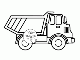 dump truck side view coloring page for kids transportation