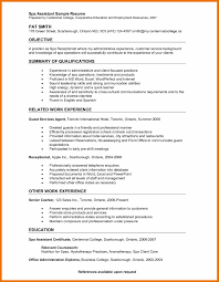 receptionist sample resumes receptionist resume samples spa