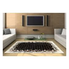 Cowhide Rug Patchwork K 1783 Sorrel Waves Mosaic Cowhide Rug Fur Home