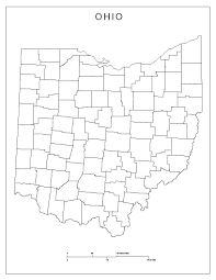 Cities In Ohio Map by Ohio Blank Map