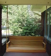 red oak porch swing