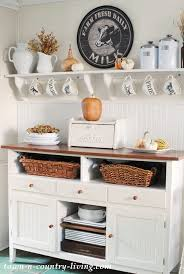 fall decorating in my farmhouse kitchen town u0026 country living