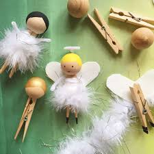 clothespin fairy or angel craft for christmas also turn it into