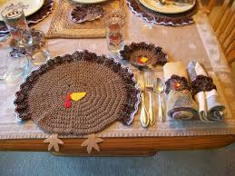 catty crochet thanksgiving turkey place settings