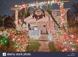37th street lights austin christmas lights in the austin texas 37th street district stock