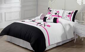 White Bedding Decorating Ideas Bedding Set Wonderful Black And White Bedding Twin Triangle Home