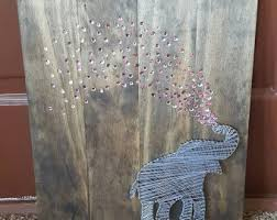 elephant string art etsy