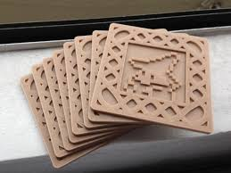Cool Coasters 3ders Org 3d Print A Set Of 8 Bit Videogame Drink Coasters To