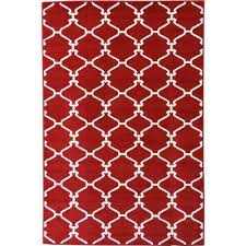 Red Washable Rug Red Trellis Area Rugs Rugs The Home Depot