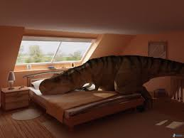 chambre de dormir tyrannosaurus