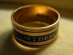 mourning ring a georgian 18ct gold enamel mourning ring circa 1812 from