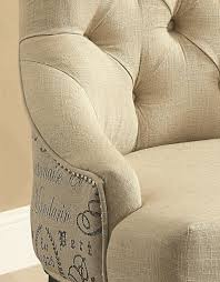 Accent Chair Set Of 2 Accent Chair Set Of 2 In Beige Fabric By Coaster